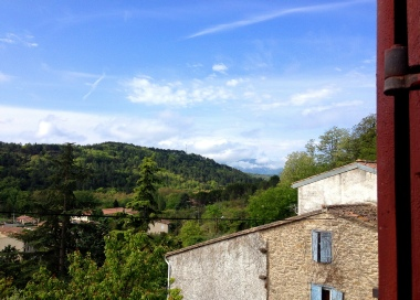 View from the Green Room towards the Pyrenees.